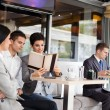 Stock Photo: Businesspeople in cafe