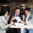 Business team at a meeting — Stock Photo