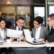 Business team having a business meeting — Stock Photo