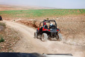 Quadbike in the desert — Stock Photo