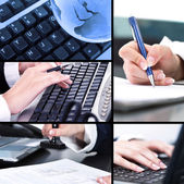 Collage of business pictures — Stock Photo