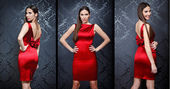 Collage of Beautiful fashion model — Stock Photo