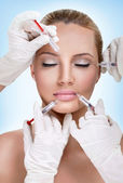 Injections of botox — Stockfoto