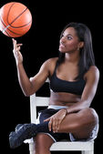 Basketball player have fun with ball — Stock Photo