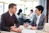 Business on meeting — Stock Photo