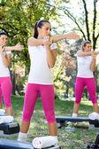 Women doing exercises — Stock Photo