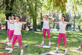 Group of women doing exercise — Stock Photo