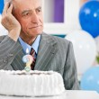Senior man forgot how old is — Stock Photo #28284261