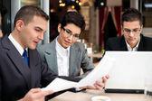 Business team planning work — Stock Photo