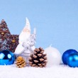 Blue christmas background — Foto Stock #2834722