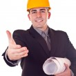 Businessman with helmet — Stock Photo #2872199
