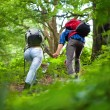 Hikers couple — Stock Photo