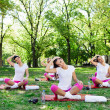 Stock Photo: Stretching group