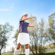 Girl playing golf — Stock Photo #30398941