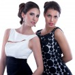 Two fashion  women — Foto Stock