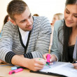 Couple of students — Stock Photo #30399637