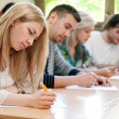 Students take the test — Stock Photo #30399673