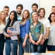 Group of students smiling — Stock Photo #30403065