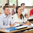 Stock Photo: University student in classroom