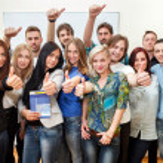 Happy students — Stock Photo