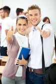Success two students — Stock Photo