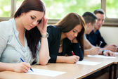 Students class have test — Stock Photo