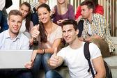 Estudantes em férias — Foto Stock