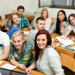 Stock Photo: Students on class