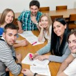 Smiling students group — Stock Photo