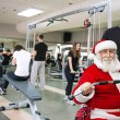 SantClaus exercising — Stock Photo #31882667