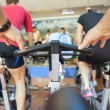 Spinning class at gym — Stock Photo
