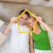 Happy couple in new home — Stock Photo #31883281