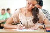 Student sitting for exam — Stock Photo