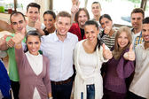 Group of smiling students — Stock Photo