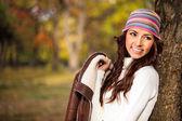 Fashion autumn woman — Stock Photo