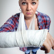 Broken arm — Stock Photo
