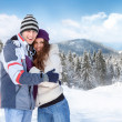 Snow couple — Stock Photo