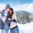 Stock Photo: Snow couple