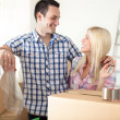 Beginning of living together — Stock Photo