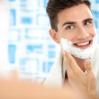 shaving face — Stock Photo