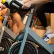 Spinning in the gym — Stock Photo #35595477