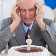 Senior mthoughts about his age — Stock Photo #35597629