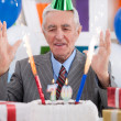 Stock Photo: Happy mcelebrating birthday