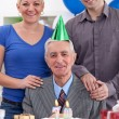 Birthday with family — Stock Photo