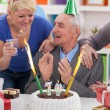 Celebrating birthday together — Stock Photo