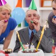 Stock Photo: Senior mcelebrating birthday