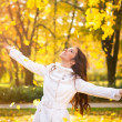 Enjoying in autumn — Stock Photo