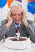 Senior man thoughts about his age — Stock Photo