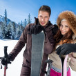 Couple on ski holiday — Stock Photo #35603971