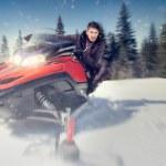 Man on snowmobile — Stock Photo #35604315